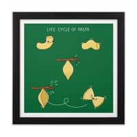 Life cycle of pasta - black-square-framed-print - small view