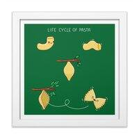 Life cycle of pasta - white-square-framed-print - small view