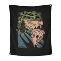 Pizza Nightmare - indoor-wall-tapestry-vertical - small view
