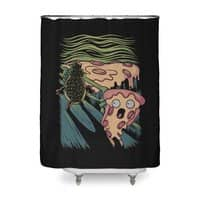 Pizza Nightmare - shower-curtain - small view
