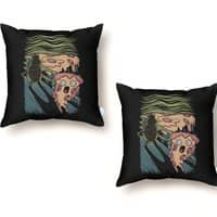 Pizza Nightmare - throw-pillow - small view