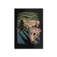 Pizza Nightmare - vertical-mounted-aluminum-print - small view