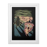 Pizza Nightmare - white-vertical-framed-print - small view