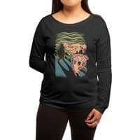 Pizza Nightmare - womens-long-sleeve-terry-scoop - small view