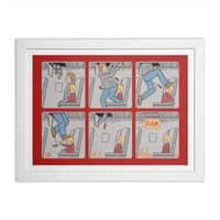 Safety First - white-horizontal-framed-print - small view