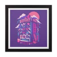 Retro gaming machine - black-square-framed-print - small view
