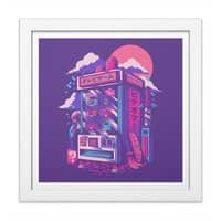 Retro gaming machine - white-square-framed-print - small view