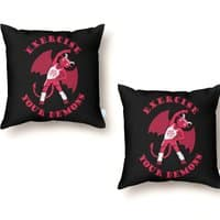 Exercise Your Demons - throw-pillow - small view