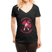 Exercise Your Demons - womens-deep-v-neck - small view