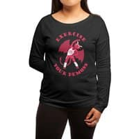 Exercise Your Demons - womens-long-sleeve-terry-scoop - small view