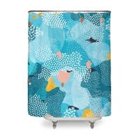 Calm - shower-curtain - small view