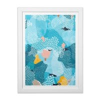 Calm - white-vertical-framed-print - small view