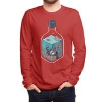 deep down at the bottom of the bottle - mens-long-sleeve-tee - small view