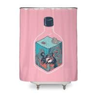 deep down at the bottom of the bottle - shower-curtain - small view