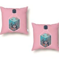 deep down at the bottom of the bottle - throw-pillow - small view