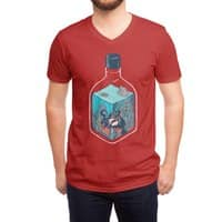 deep down at the bottom of the bottle - vneck - small view