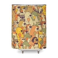 Herbivores In Carnivores - shower-curtain - small view