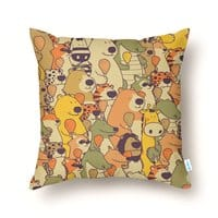 Herbivores In Carnivores - throw-pillow - small view