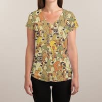 Herbivores In Carnivores - womens-sublimated-v-neck - small view