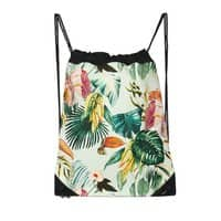 Exotic jungle bouquet 02 - drawstring-bag - small view