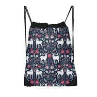 Scandinavian Deer - drawstring-bag - small view