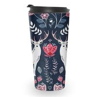 Scandinavian Deer - travel-mug - small view