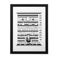 Bar Code - black-vertical-framed-print - small view