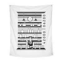 Bar Code - indoor-wall-tapestry-vertical - small view