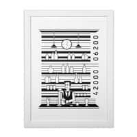 Bar Code - white-vertical-framed-print - small view