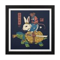 Kame, Usagi and Ratto Ninjas - black-square-framed-print - small view