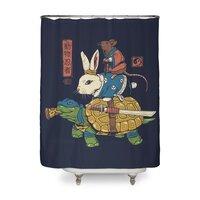 Kame, Usagi and Ratto Ninjas - shower-curtain - small view