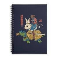 Kame, Usagi and Ratto Ninjas - spiral-notebook - small view