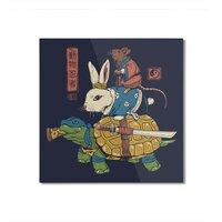 Kame, Usagi and Ratto Ninjas - square-mounted-aluminum-print - small view
