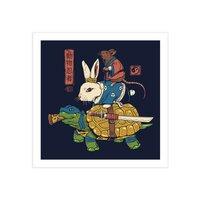 Kame, Usagi and Ratto Ninjas - square-print - small view