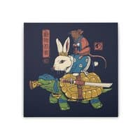Kame, Usagi and Ratto Ninjas - square-stretched-canvas - small view