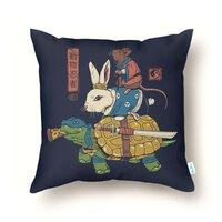 Kame, Usagi and Ratto Ninjas - throw-pillow - small view