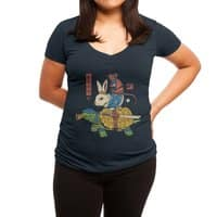 Kame, Usagi and Ratto Ninjas - womens-deep-v-neck - small view