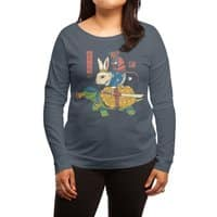 Kame, Usagi and Ratto Ninjas - womens-long-sleeve-terry-scoop - small view