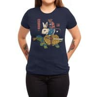 Kame, Usagi and Ratto Ninjas - womens-triblend-tee - small view