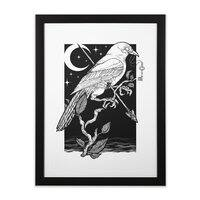 Night Crow - black-vertical-framed-print - small view
