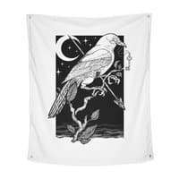 Night Crow - indoor-wall-tapestry-vertical - small view