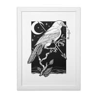 Night Crow - white-vertical-framed-print - small view