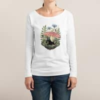 Tiny Unicorn - womens-long-sleeve-terry-scoop - small view