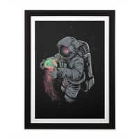 Jellyspace - black-vertical-framed-print - small view