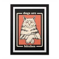Dogs are... - black-vertical-framed-print - small view