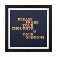 Shut Up And Talk - black-square-framed-print - small view
