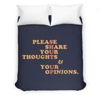 Shut Up And Talk - duvet-cover - small view
