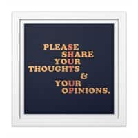 Shut Up And Talk - white-square-framed-print - small view