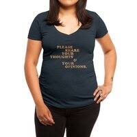 Shut Up And Talk - womens-deep-v-neck - small view