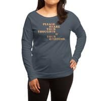Shut Up And Talk - womens-long-sleeve-terry-scoop - small view